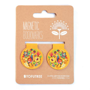Magnetic Bookmarks - Kiwi & Flora
