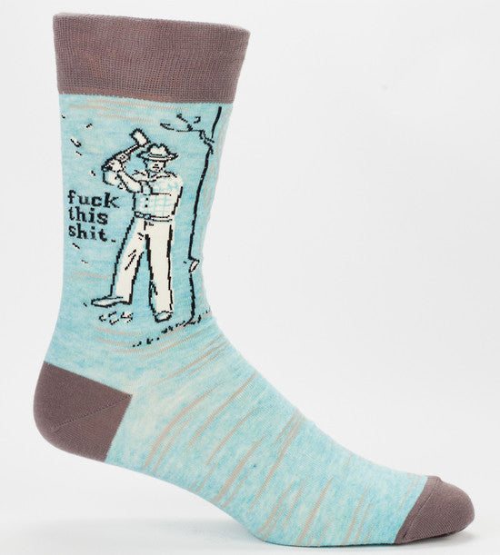 Men's Socks - Fuck This Shit - BlueQ - Design Withdrawals