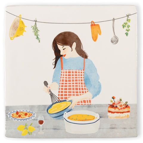 Bake Someone Happy Ceramic Tile