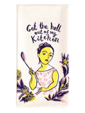 Tea Towel - Get the hell out of my kitchen - BlueQ - Design Withdrawals
