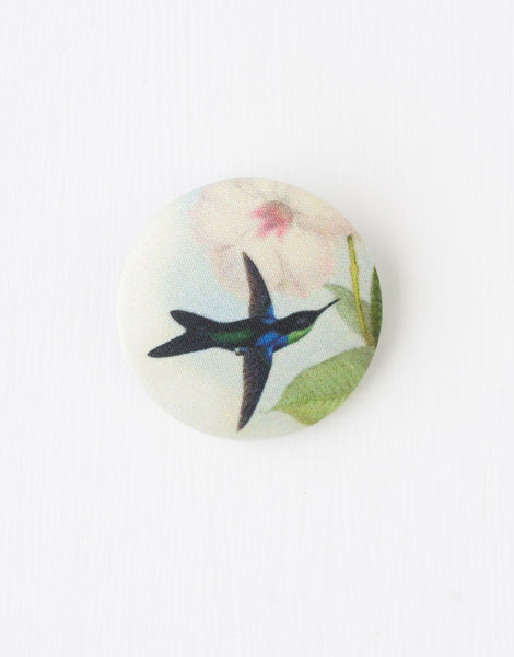 Hummingbird Button Brooch