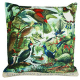 NZ Native Birds Cushion Cover - Design Withdrawals - Design Withdrawals