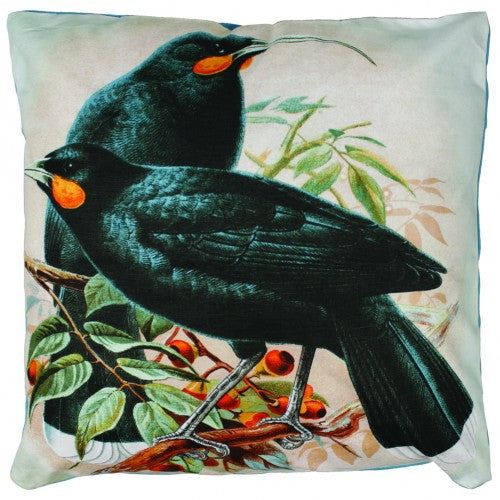 Huia Bird Cushion Cover - Design Withdrawals - Design Withdrawals