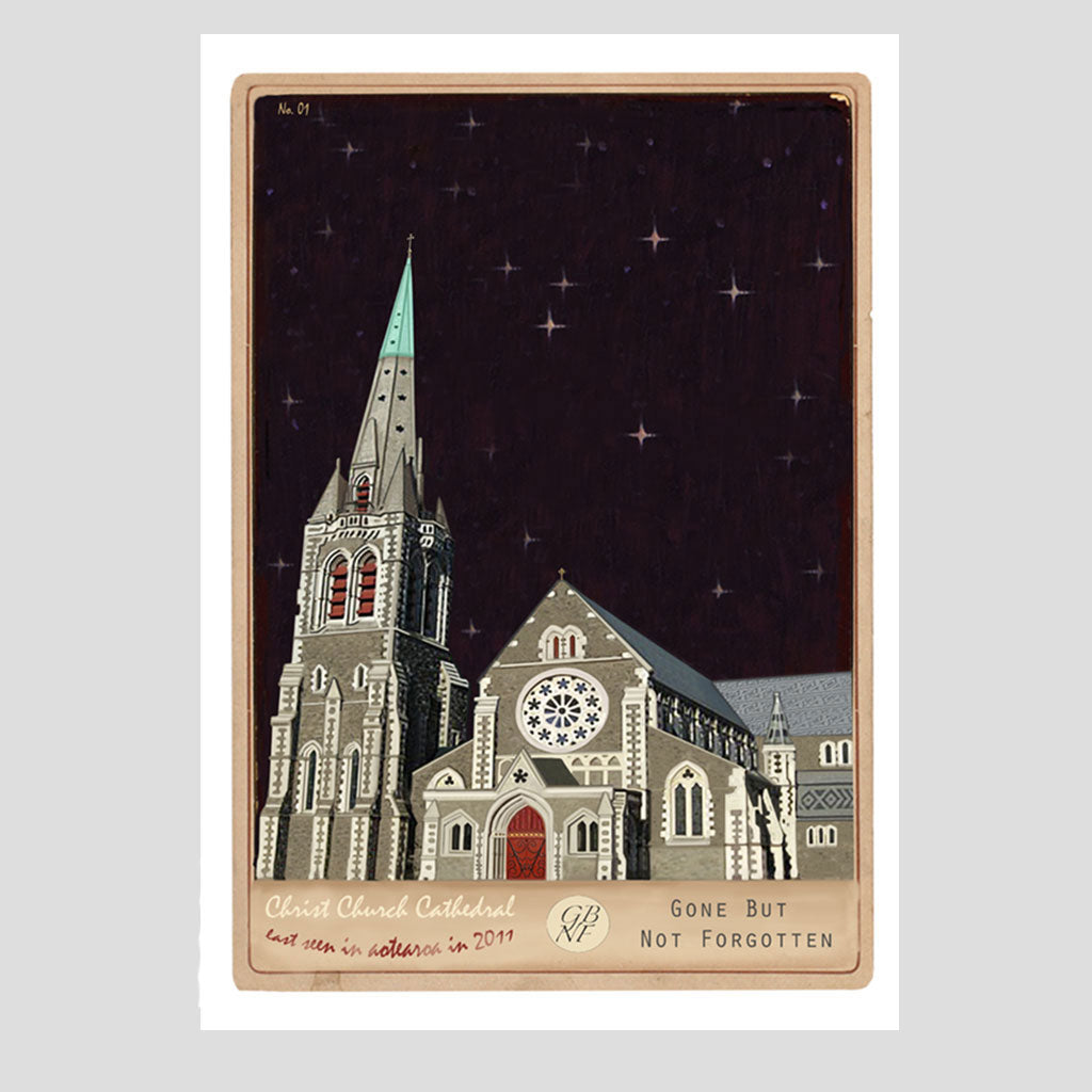 Christchurch Cathedral - Art Print - Marika Jones - Design Withdrawals