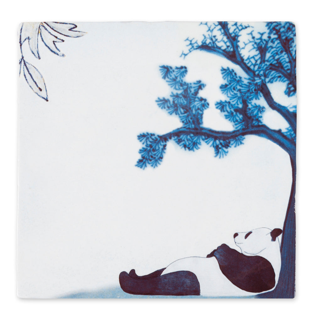 Chilling Panda Ceramic Tile
