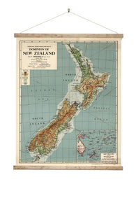 NZ Dominion Map - Wall Chart - Design Withdrawals - Design Withdrawals
