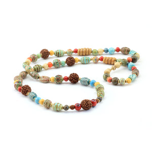 Persia Multi Earth - Necklace - Design Withdrawals - Design Withdrawals