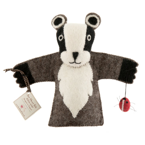 Billie Badger Hand Puppet