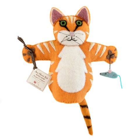 Ginger the Cat Hand Puppet