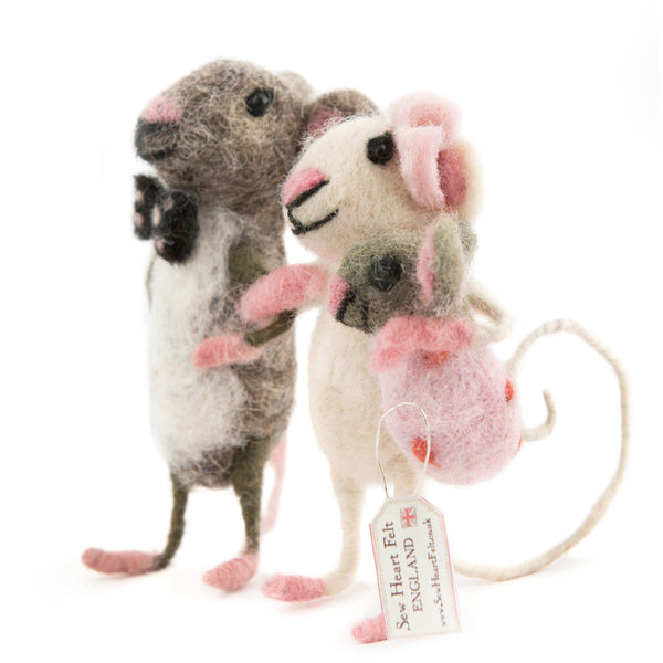 Mummy and Daddy mouse carrying a baby Girl Mouse