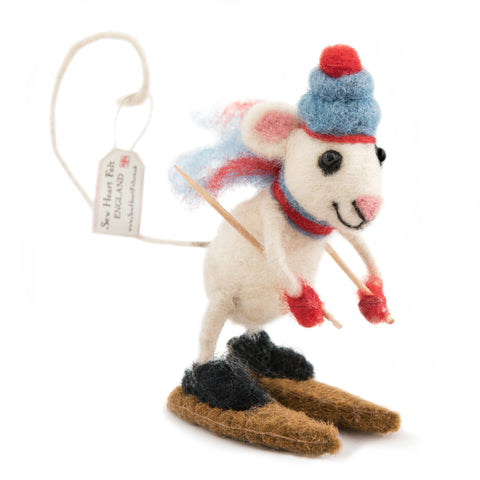 Skiing Felt Mouse
