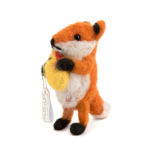Felt Fox with Chicken