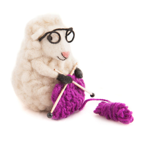 Knitting Nell Felt Sheep