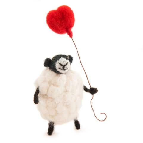 Sheply Sheep with Heart Balloon