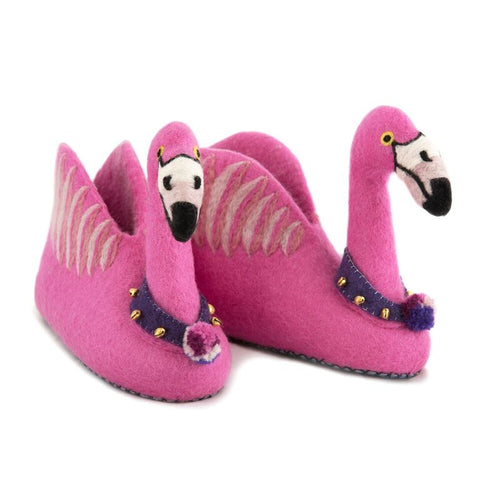 Alice the Flamingo Slippers - Design Withdrawals - Design Withdrawals