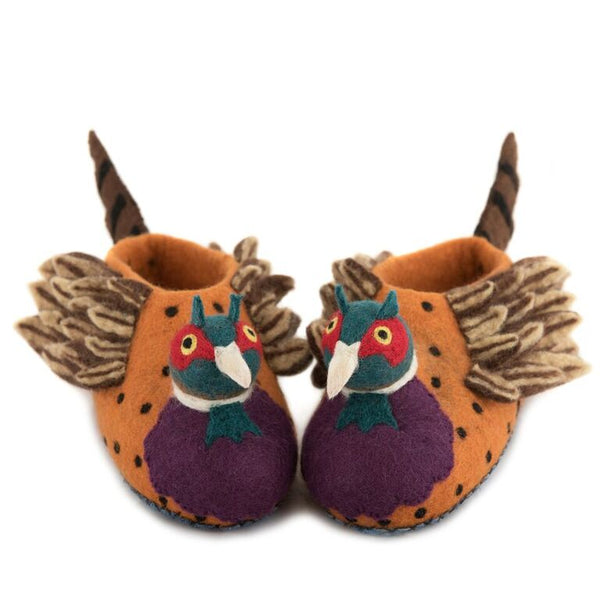 Freddie the Pheasant Slippers - Design Withdrawals - Design Withdrawals