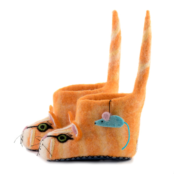 Ginger The Farm Cat Children Slippers