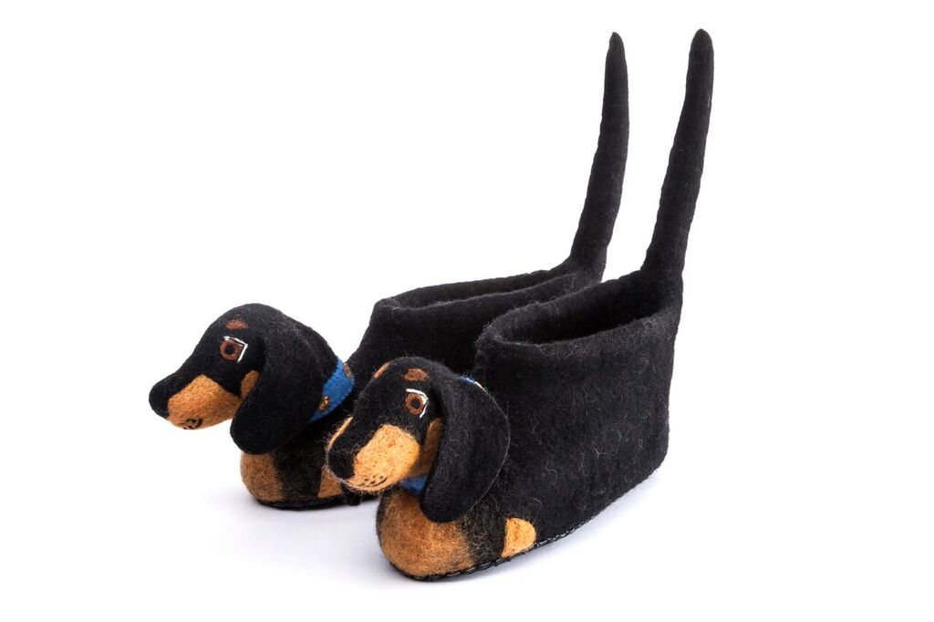 Desmond Dachshund Slippers - Design Withdrawals - Design Withdrawals