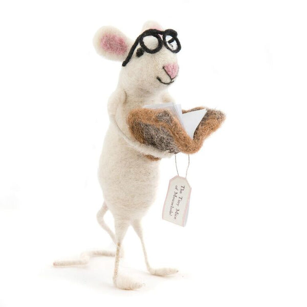 Book Worm Mouse - Design Withdrawals - Design Withdrawals