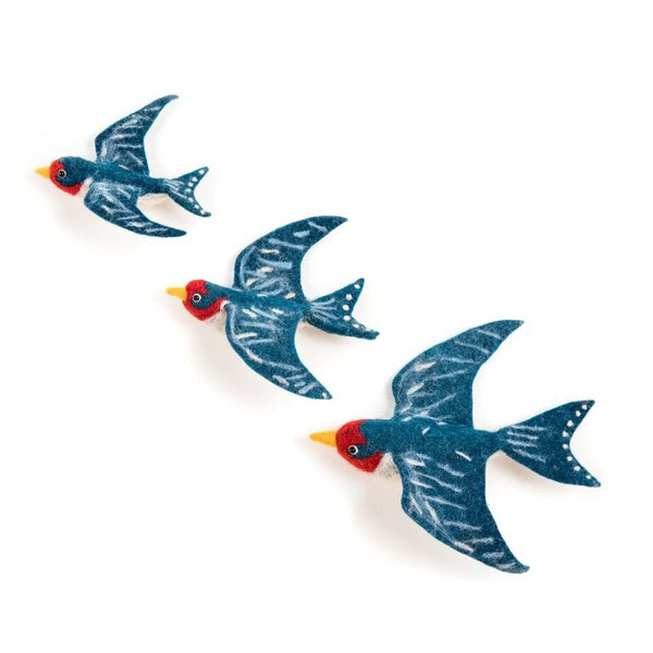 Flying Swallow Wall Trio - Design Withdrawals - Design Withdrawals