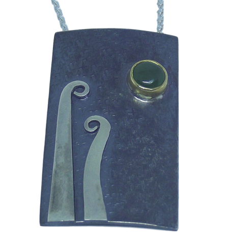 Koru and Pounamu Pendant