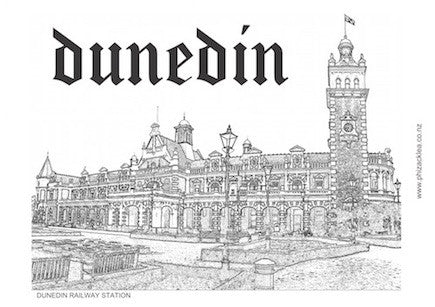 Dunedin Railway Station Tea Towel
