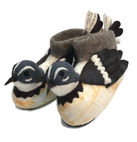 Fantail Hand Felted Woollen Slippers