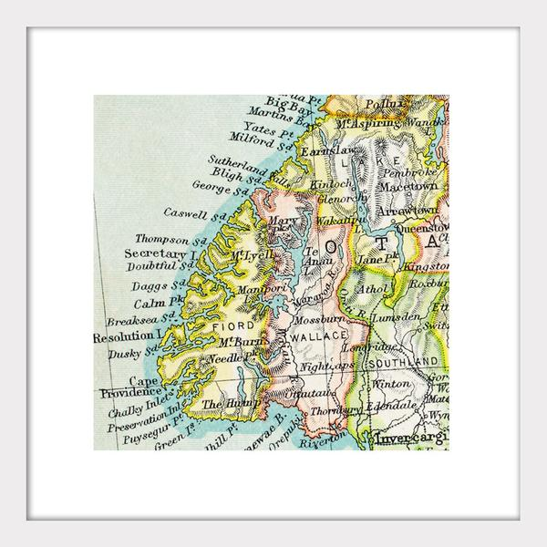Te Anau - Vintage Map Print - Design Withdrawals - Design Withdrawals