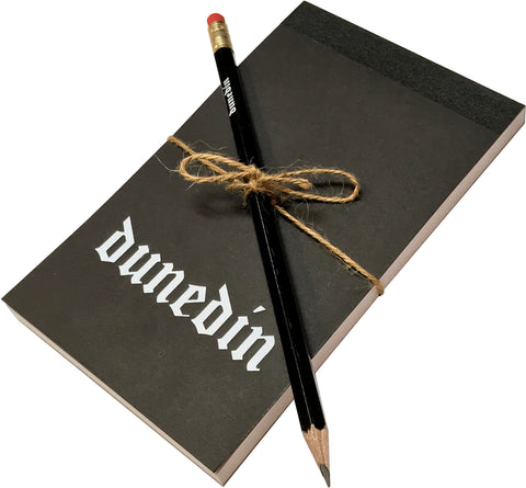 Dunedin Notepad & Pencil - Black