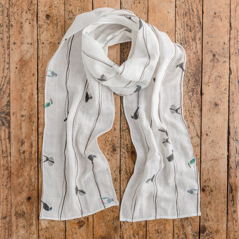 Birds on a Wire - NZ birds - Scarf