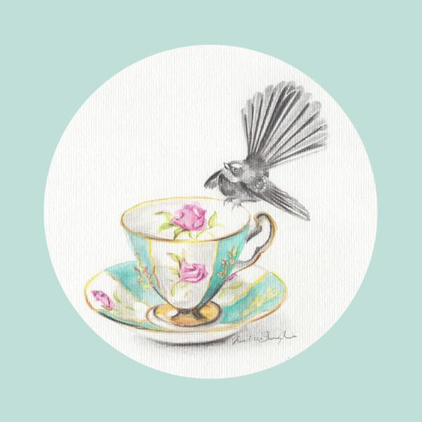 Fantail Mint - Greeting Card - Melissa Sharplin - Design Withdrawals