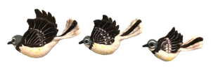 Flying Fantail Wall Trio