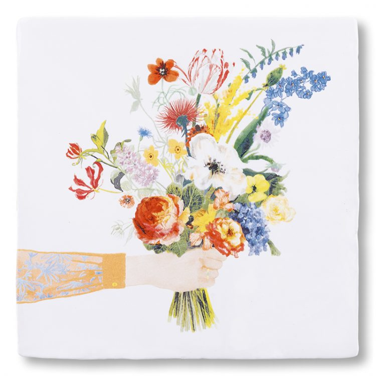 All You Need is Flowers Ceramic Tile