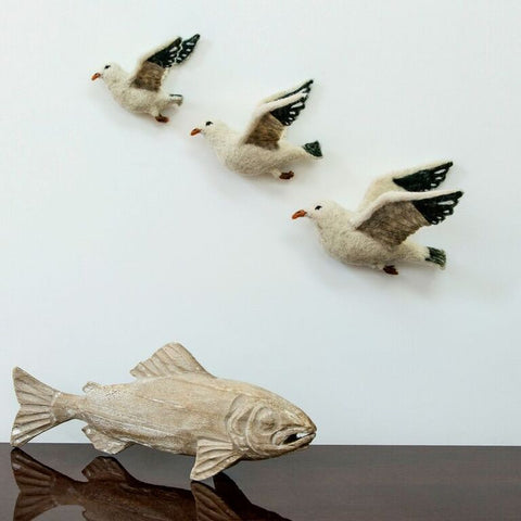 Flying Seagull Wall Trio - Design Withdrawals - Design Withdrawals