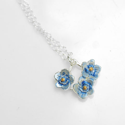 Forget Me Not Trio Necklace