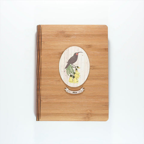 Bamboo Journal - Printed Light Wood Huia