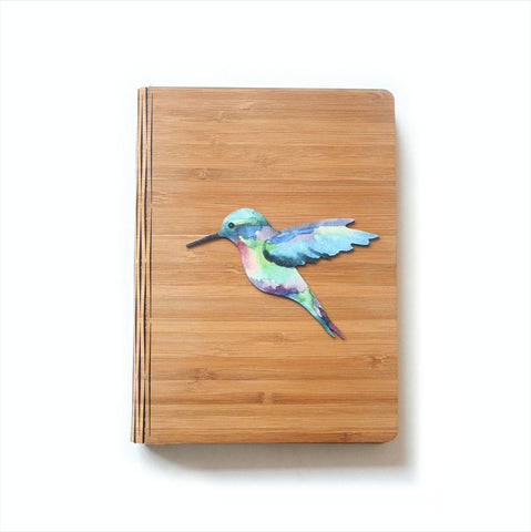 Bamboo Journal - Printed Humming Bird