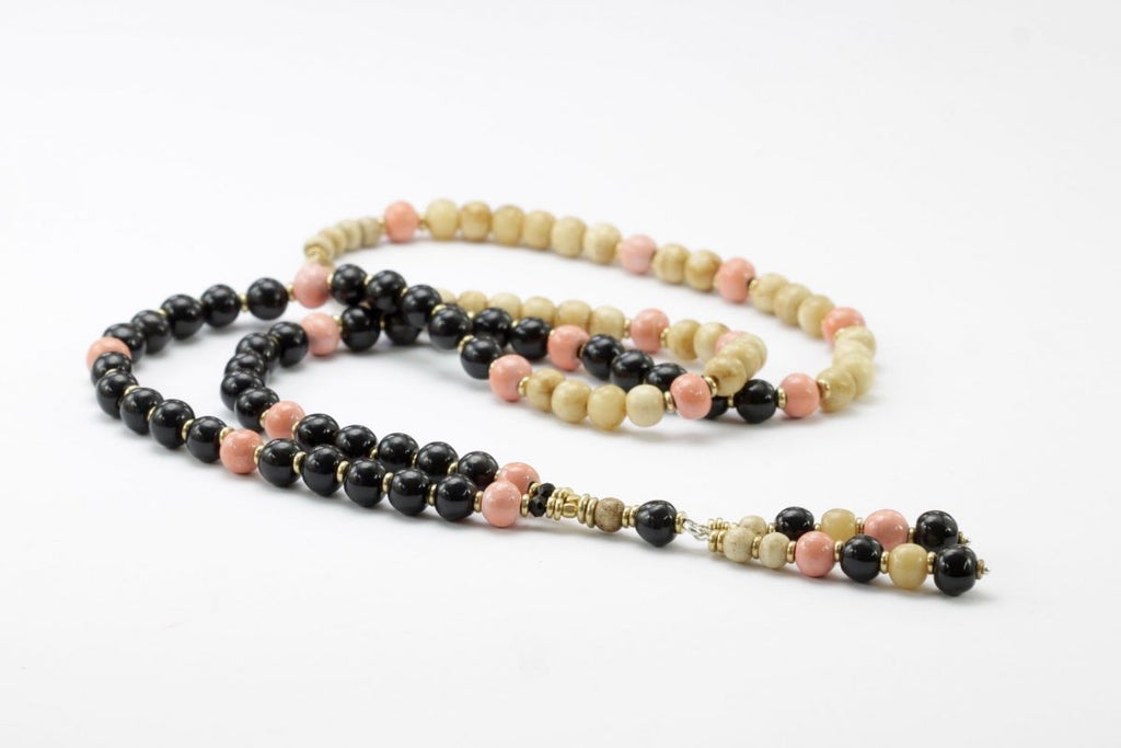 Madras Necklace - Ebony & Pink - Claycult - Design Withdrawals