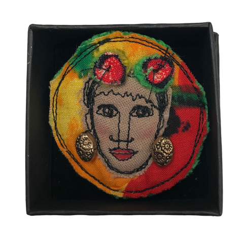 Frida Kahlo Brooch