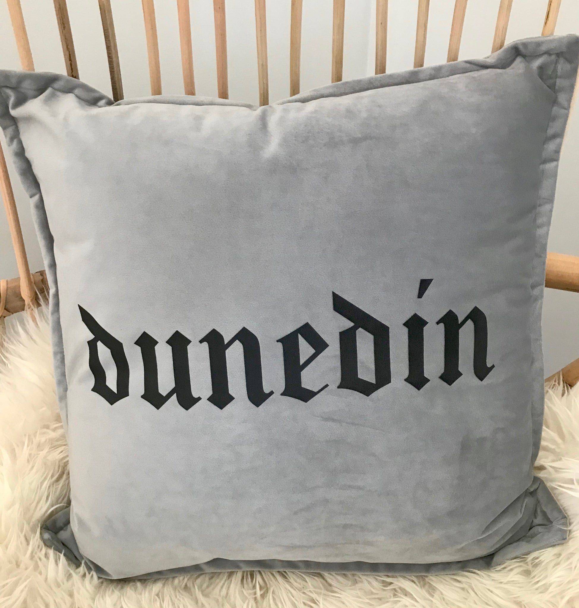Dunedin Velvet Cushion Cover - Light Grey