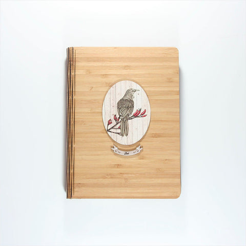 Bamboo Journal - Printed Light Wood Tui