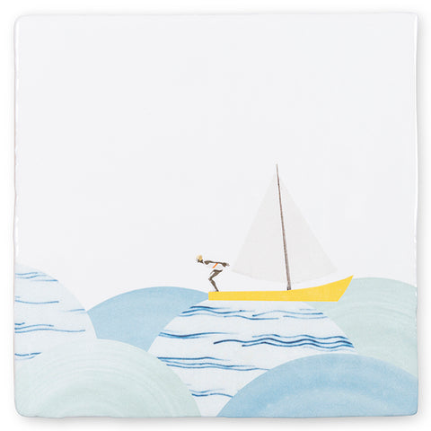 Like a Fish In the Water Ceramic Tile