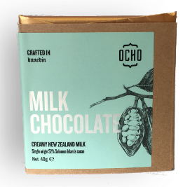 OCHO Milk Chocolate 40g bars