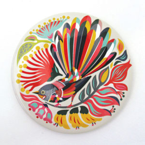 Pocket Mirror - Colourful Fantail