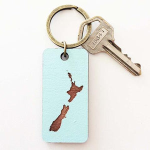 NZ Map Keyring