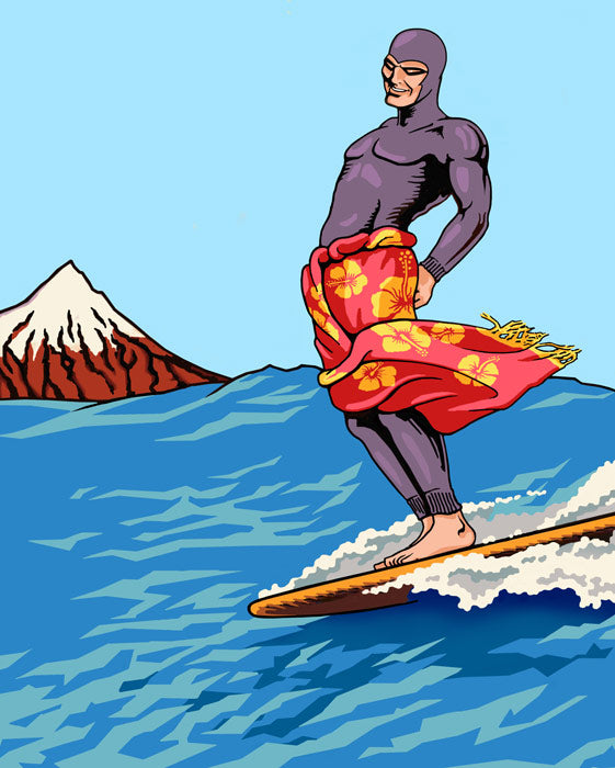 Ghost Who Surfs -Lester Hall - Ngati Pakeha Inks - Design Withdrawals