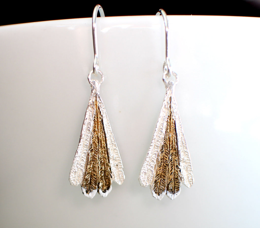 Piwakawaka Feather Earrings Hanging