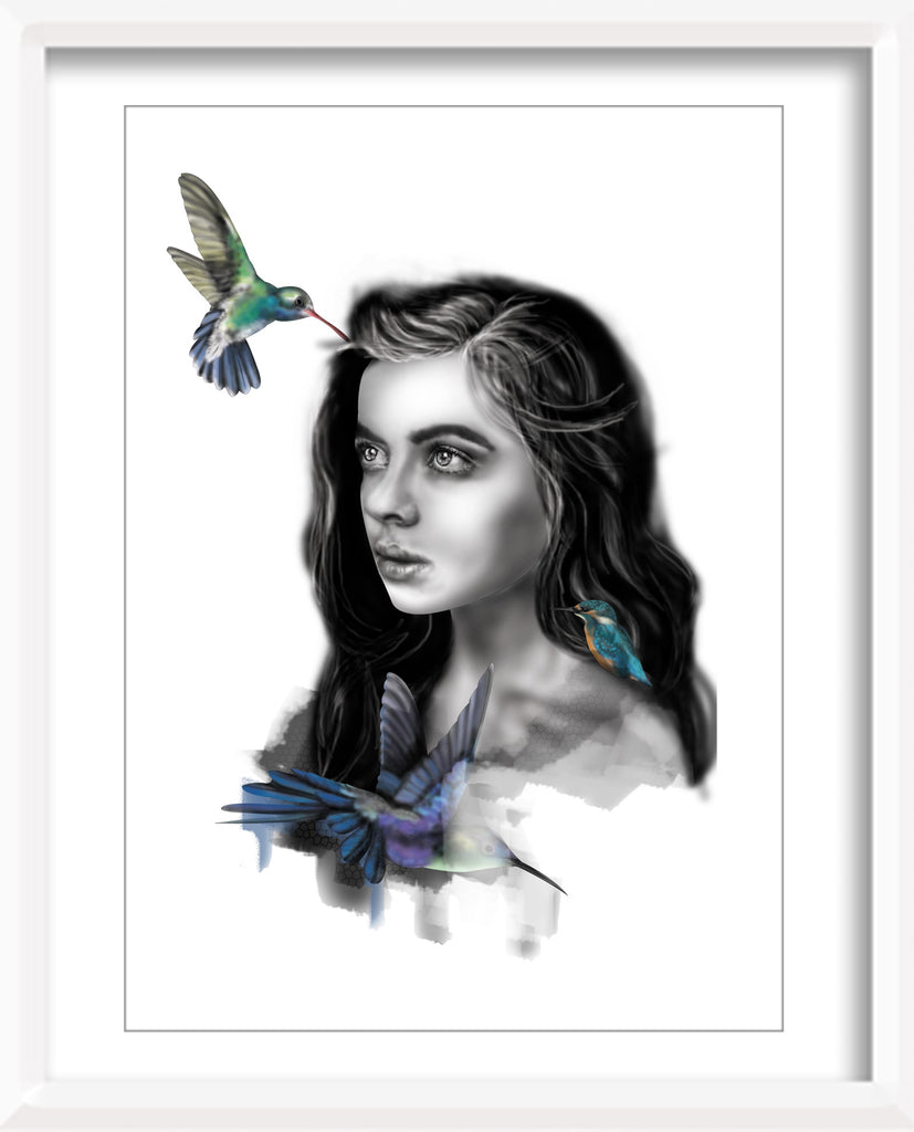 Queens Hummingbird Print - Industry Ink - Design Withdrawals
