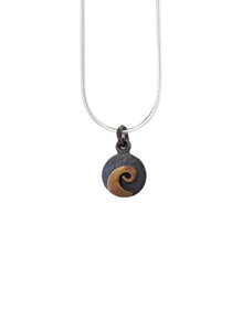 Silver and Bronze Koru Necklace - Robert Wyber - Design Withdrawals