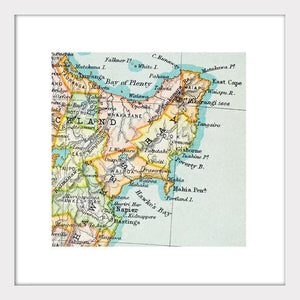 Hawke's Bay - Vintage Map Print - Design Withdrawals - Design Withdrawals